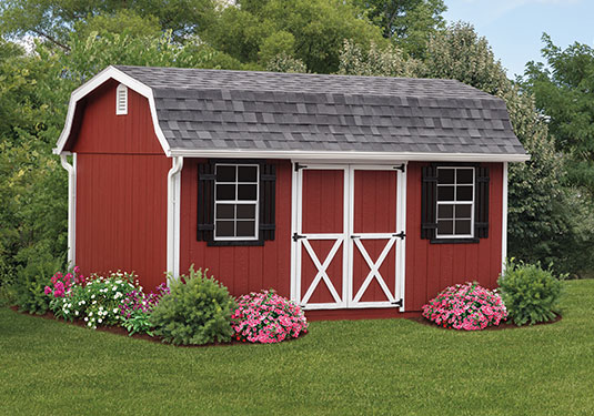 10x14 Classic Wood Outdoor Storage Sheds