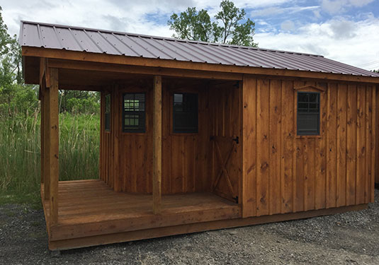 Barn Board Garden Sheds with Wrap around Porch