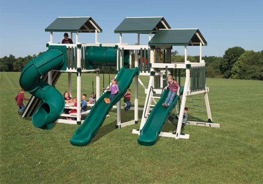 Green Vinyl Swing Set