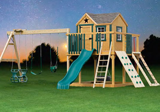 Large Wooden Swing Set