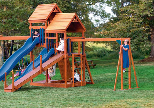 Red Wooden Playset