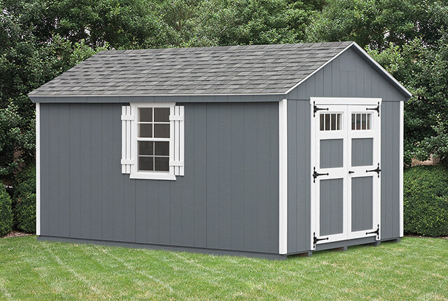 """10'x12' A-Frame with Transom Windows in Doors and 24""""x36"""" Windows"""