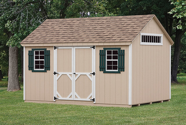 10'x14' A-Frame with 7/12 Roof Pitch with Transom Window in Gable