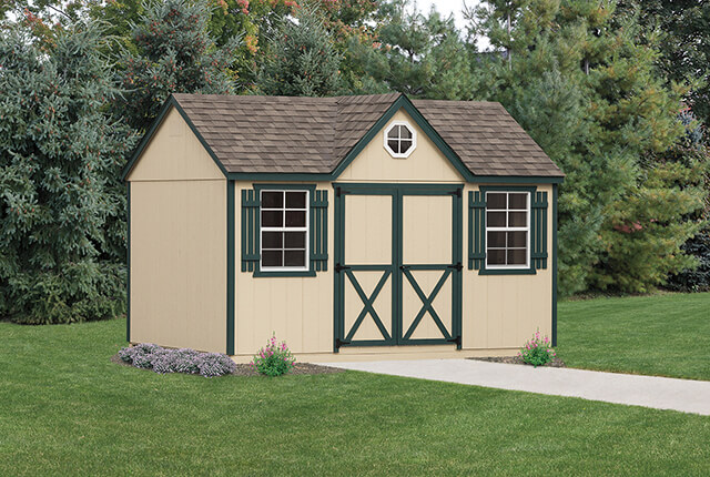 10'x14' A-Frame Painted with Optional Dormer