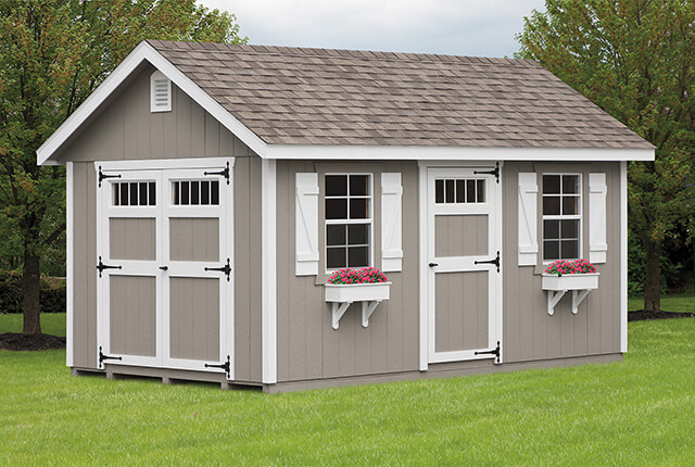 0'x14' Classic with Transom Windows in Doors