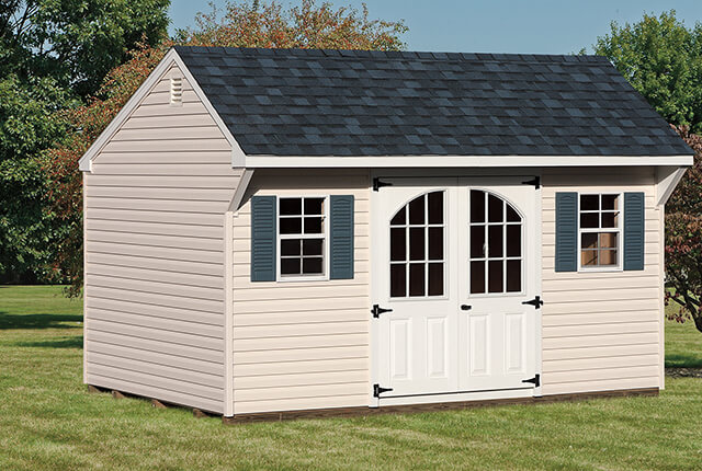 10'x14' Quaker with 9 Lite Arched Doors