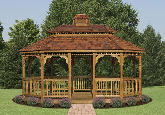 Oval Wooden Gazebo